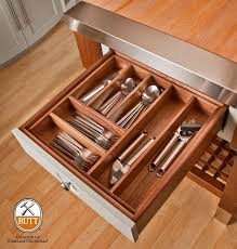 Kitchen Cabinet Drawer Boxes by Removable Walnut Utensil Insert In Our Walnut Drawer Box