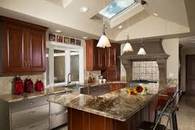 brown kitchen canisters stainless steel backsplash tiles kitchen contemporary with island