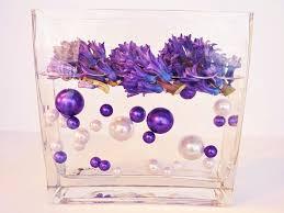 Vase With Pearls Amazon Com 80 Jumbo U0026 Assorted Sizes All Purple Pearls Vase