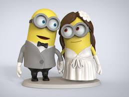 wedding figurines minion wedding figurine cgtrader