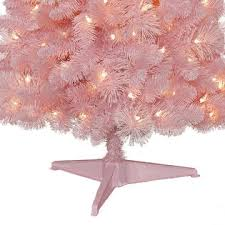 pink pre lit christmas tree christmas decor ideas