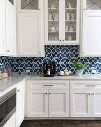 blue kitchen backsplash white cabinets before and after a dramatic kitchen and family room