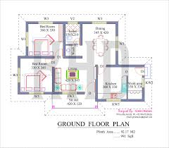 3 bedroom house floor plan with models model house plans kerala