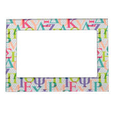 Sorority Picture Frame Letter Magnetic Picture Frames Zazzle