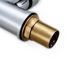 swivel spout chrome brass kitchen faucet dual sprayer vessel sink