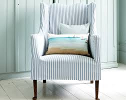 slipcovered chair slipcovered chair with ticking stripes http completely
