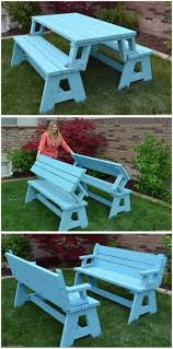 backyards impressive 50 free diy picnic table plans and ideas
