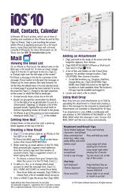 ios 10 mail contacts u0026 calendar quick reference guide for ipad
