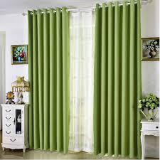 Grey And Green Curtains Summer Style Linen Curtains For Living Room Blackout Curtain White
