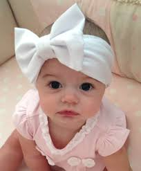 baby headwrap chiffon bow headband shabby chic baby girl photo