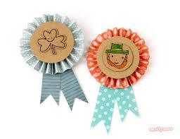 st patrick u0027s day crafts diy badges badges craft and assisted