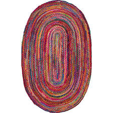 Nuloom Rug Reviews Nuloom Tammara Multi 8 Ft X 11 Ft Oval Chindi Area Rug Mgnm04a