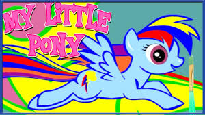 my little pony rainbow dash coloring book my little pony
