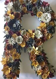 lettre decorative pour chambre b floral letter paper flower letter paper mache floral letter