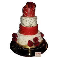 1670 4 tier red u0026 white wedding cake abc cake shop u0026 bakery