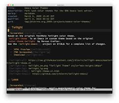 List Of Color Emacs Color Themes