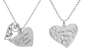 custom engraved heart necklace custom engraved heart pendant jewells house groupon