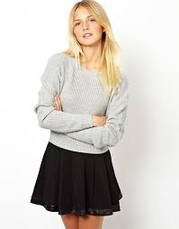 asos asos cropped sweater