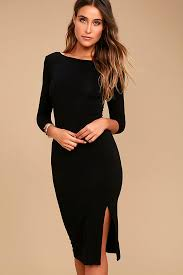 black dress chic black dress midi dress bodycon dress 38 00