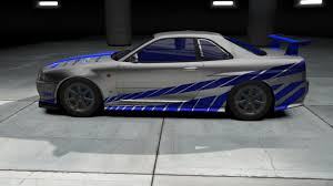 nissan skyline r34 2 fast 2 furious 2 fast 2 furious brian u0027s skyline by rideblades007 need for speed
