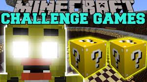 Challenge Minecraft Minecraft Chica Challenge Lucky Block Mod Modded Mini
