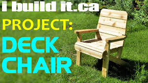 Diy Wooden Deck Chairs by Making A Deck Chair Youtube