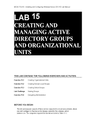 lab 15 active directory group policy