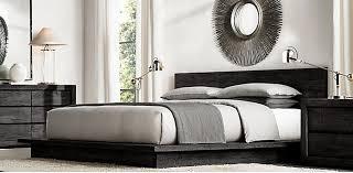reclaimed russian oak platform bedroom collection black rh