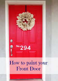 how to paint front door red new best 25 red front doors ideas on