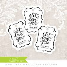 wedding tags let grow tag wedding favor tag party favor shower