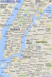manhattan on map and there s a new judgmental map of nyc untapped cities
