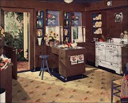 1940 homes interior 1940 kitchen design vintage 1940s interiors brown and blue