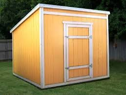 Diy Lean To Storage Shed Plans by 8 8 Lean To Shed Plans U0026 Blueprints For Garden Shed