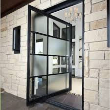 House Entrance Designs Exterior Front Door Ideas House Entrance Stone Slabs Facade Metal Glass