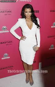 kim kardashian white cocktail dress hollywood style awards red