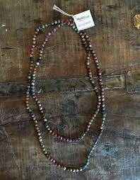 bead necklace long images Kantha bead long necklace trade roots jpg