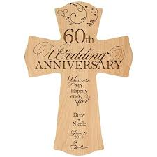 60th anniversary gift buy personalized 60th wedding anniversary cross you are my