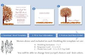 fall scenery wedding invitations printable autumn templates