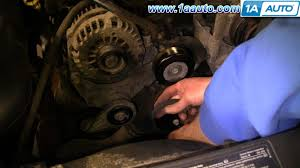 how to install replace engine serpentine belt chevy silverado gmc