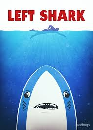 Parody Meme - left shark parody jaws funny movie meme humor posters by