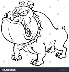 vector illustration angry dog coloring book stock vector 191307002