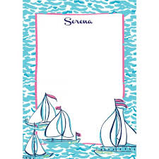 lilly pulitzer correspondence cards docksider