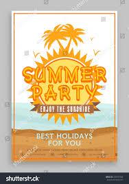 sunshine invitation summer party invitation card design decorated stock vector