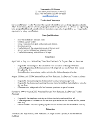 Sample Resume For Daycare Worker by Sample Child Care Teacher Resume Templates