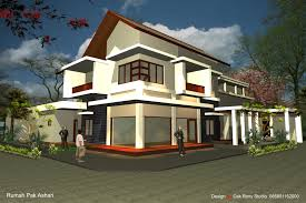 modern sloping block house design with three storey floor plan