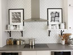 Exellent Modern Tile Backsplash Kitchen Subway White Mosaic Long - Kitchen modern backsplash