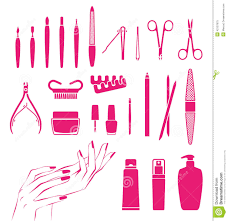 beautiful hands and nails stock vector image 42107675