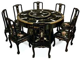 8 Chairs Dining Set Astonishing Asian Dining Table Black Lacquer Dining Table With 8