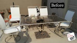 How To Paint Table And Chairs How To Update Your Tired Patio Furniture Diva Of Diy