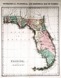 historic maps of florida geographical statistical and historical map of florida 1827